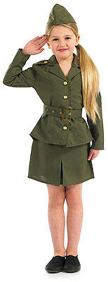 Mädchen Kinder Zweiter Weltkrieg Armee Soldat Kostüm Militär Outfit NEU