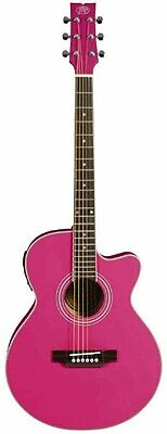 JB Player JBEA15 Bloom Acoustic-Electric Single-Cutaway Guitar - Pink
