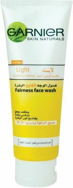 Garnier Light Fairness Face Wash, 100ml