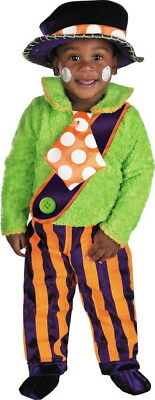 Cute Clown Halloween Costumes (Cute Boys Toddler Kids Childrens Clown Deluxe Halloween Costume Size 12-18)