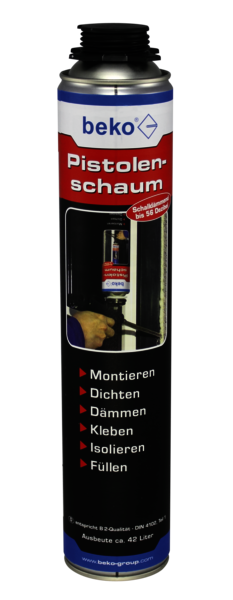 Beko Pistolenschaum 1-Komponenten-Polyurethanschaum Montageschaum Bauschaum