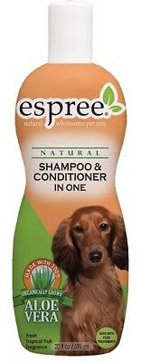 Espree Natural Pet Shampoo & Conditioner In One Dogs & Cats Grooming 20oz USA