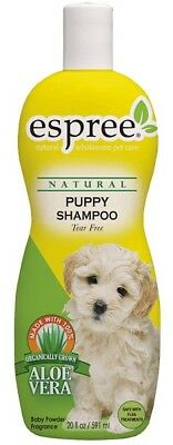 Espree Natural Puppy Shampoo Tear Free Dog Grooming w/Aloe Vera 20oz USA