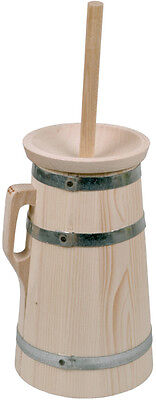 Butterfass, 2 Liter, aus Fichtenholz