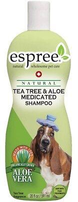 Tea Tree & Aloe Medicated Dog Shampoo Soothe Skin Itch Inflammation 20oz USA