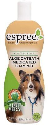 Espree Natural Aloe Oatbath Medicated Dog Shampoo 20oz