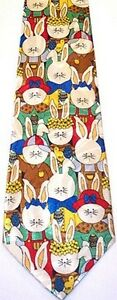 NEW! Lots of Cute Easter Bunnies BUNNY Novelty Tie #991