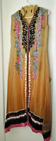 Pakistani / Indian Dress - Light Brown with Floral Detailing