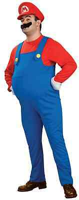 Mario Super Mario Brothers Nintendo Plumber Fancy Dress Halloween Adult Costume