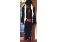 Halloween Elvis All In One Zipped Costume Black Adult Size Large/X Large