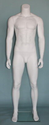 5 Ft 9 In Tall Male Headless Mannequinmuscular Body Matte White Stm051wt- New