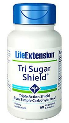 3 BOTTLES $19.56 Life Extension Tri Sugar Shield blood sugar glucose levels