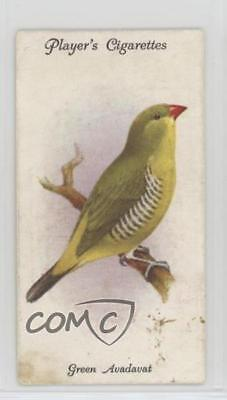1933 Player's Aviary and Cage Birds Tobacco Base #35 Green Avadavat Card 2u1
