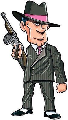 30 Custom Cartoon Gangster Personalized Address Labels