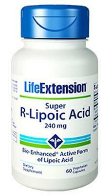 4X $24.75 Life Extension Super R-Lipoic Acid antioxidant eye health glutathione - Life Extension Antioxidant