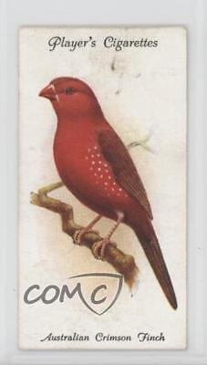 1933 Player's Aviary and Cage Birds Tobacco Base 37 Australian Crimson Finch a8x
