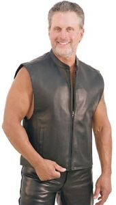 Leather jacket and leather vest