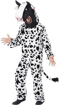 Full COW Costume Mens Womens Black & White Fancy Dress Halloween Mascot Adults (Black Man White Woman Halloween Costumes)