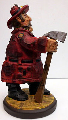 """FIREFIGHTER FIGURINE """"FIREFIGHTER WITH AXE"""" CHIEF DAVID FRYKMAN #DF3901"""