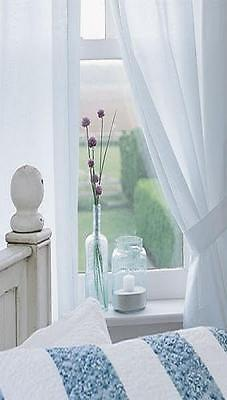 Curtains Ideas 36 inch cafe curtains : Farmhouse 100% Cotton White Muslin 36 Inch Cafe Curtains