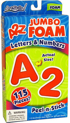 ArtSkills A2Z JUMBO FOAM Letters and Numbers Poster Sign 115 PeelNStick ALL BLUE