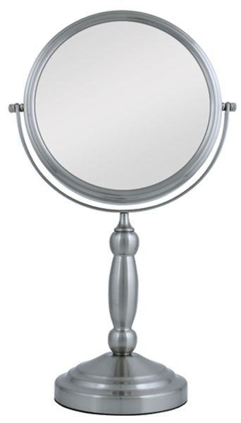 Zadro VAN410 Two-Sided Vanity Swivel Mirror, Satin Nickel, 1