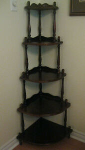 GORGEOUS  CORNER  DISPLAY  UNIT  ...  SOLID  WOOD!!