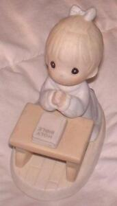 RETIRED Precious Moments Figurine - Lord Teach us to Pray
