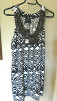 NWD Womans Black & White Geometric Tunic Sleeveless Top...1X