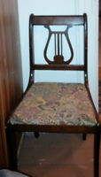 1940's Lyre Back dining chair