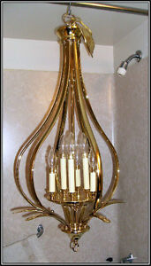 SOLID BRASS -- CHANDELIER ( LARGE )