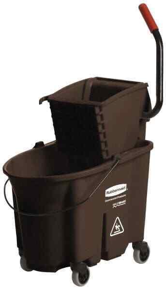 "Rubbermaid 35 Qt Plastic Bucket & Wringer 20-1/8"" Long x 36-1/2"" High x 15-3/..."