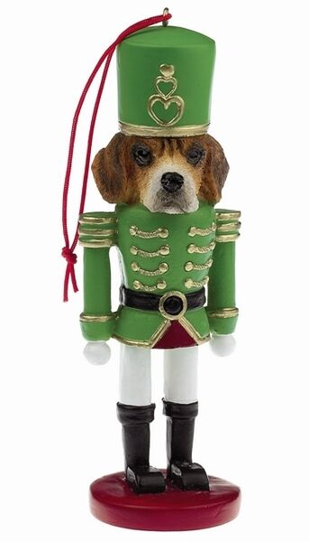 BEAGLE  NUTCRACKER  SOLDIER DOG ORNAMENT #3