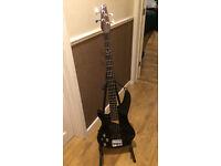 Left handed Dean bass guitar