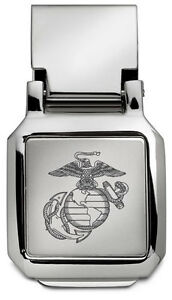 new-USMC-Marine-Corps-ENGRAVED-SILVER-SPRING-MONEY-CLIP-United-States-Marines