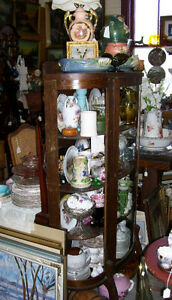 curved front china display cabinet