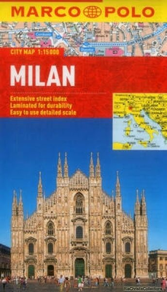Milan Marco Polo City Map Marco Polo New Sheet map folded Free UK Post