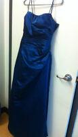 Robe de bal princesse bleu size S 8 evening dress gown Négo!