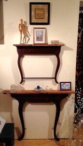 One Left- Antique Dresser Harp Shelves