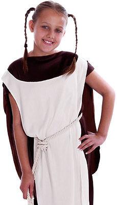 Mädchen Wikinger Mittelalterlich Sächsisch Kostüm Krieger Bauer Outfit Alter 6-8