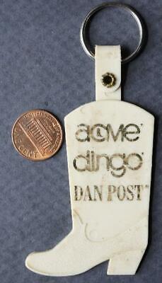 1970-80s Era Acme / Dingo / Dan Post Cowboy Boots boot shaped keychain-VINTAGE!