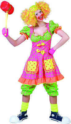Polka Dot Clown for Women Size Small New by Funny Fashion 506074