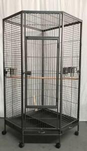 162cm Large Corner Bird Cage Parrot Aviary Budgie Castor Wheel