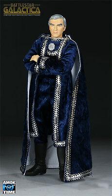 Battlestar Galactica Majestic Commander Adama Lorne Greene 12  Action Figure Nip