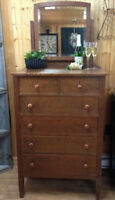 Antique dresser and mirror!
