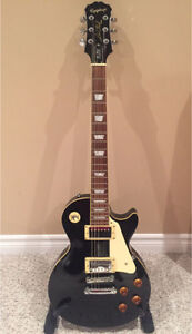 Epiphone Les Paul Electric Guitar & Network guitar stand