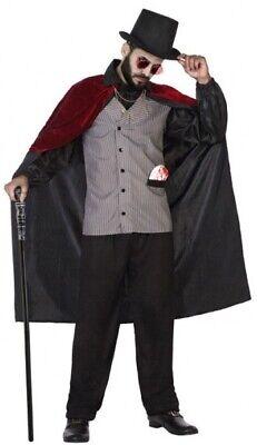 Herren Viktorianisch Steampunk Vampir Halloween Karneval Kostüm Kleid Outfit