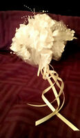 High End Wedding bouquet purse and hat with veil