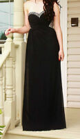 black size 2 la femme prom dress for sale