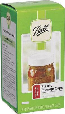 Ball Regular Mouth Plastic Storage Lids ~ Mason Canning Jar Caps Lot of 8 - Canning Jar Plastic Storage Caps